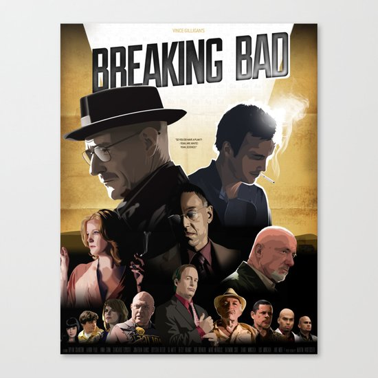 Breaking Bad - complete poster Canvas Print