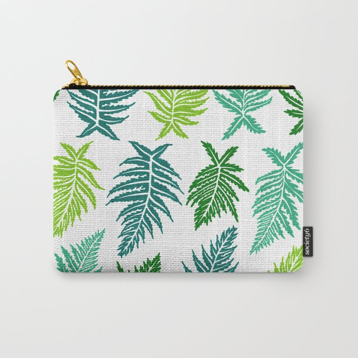 Inked Ferns – Green Palette Carry-All Pouch