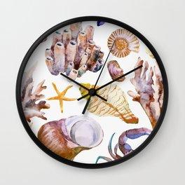 Sea Life Pattern 12 Wall Clock