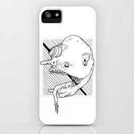 Trippy _ Zombie _ Head <L . I . N . E . W . O . R . K> | Black and White | iPhone Case