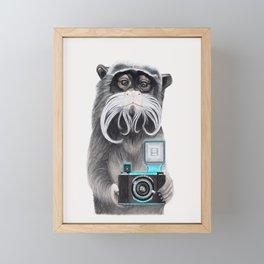 Titi Monkey Taking a Selfie / Mono Emperador se hace un selfie Framed Mini Art Print