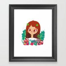 Something Floral Framed Art Print