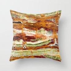 Green Marble Throw Pillow