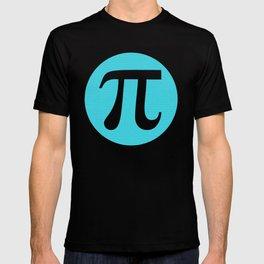 First 10,000 digits of Pi, blue on black. T-shirt