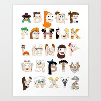 P&F Alphabet Art Print