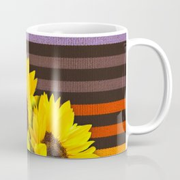 FUN STRIPES-SUNFLOWERS Coffee Mug