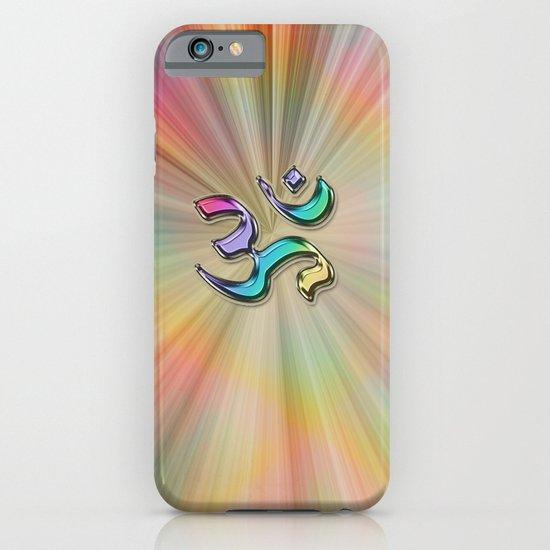 Rainbow Sunburst OM iPhone & iPod Case