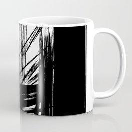 Black Abstract Brush Strokes nr 7 Coffee Mug