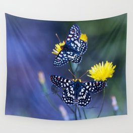 The Checkerspot Couple Wall Tapestry
