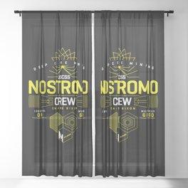 Deep Mining Crew / Nostromo / Alien / Science Fiction / Horror / Typography Sheer Curtain