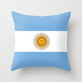 Flag of argentina -Argentine,Argentinian,Argentino,Buenos Aires,cordoba,Tago, Borges. Throw Pillow