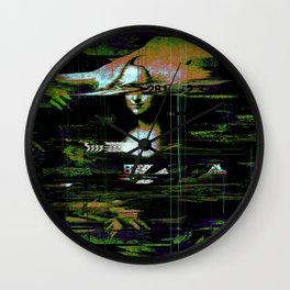 Mona Lisa Glitch Wall Clock