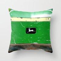 john green Throw Pillows featuring John Deere Green..... by LeeRay Flowers