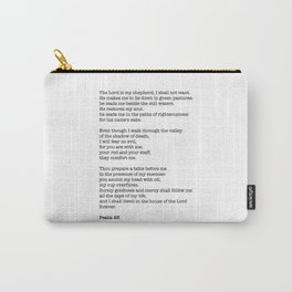 Psalm 23 Bible Verse Print - The LORD is my shepherd Carry-All Pouch