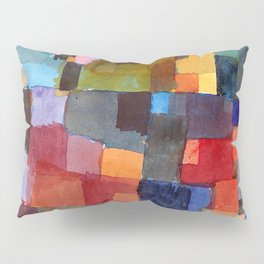 "Paul Klee ""Raumarchitekturen - Auf Kalt-Warm)(Room architectures - On cold-warm))"" Pillow Sham"