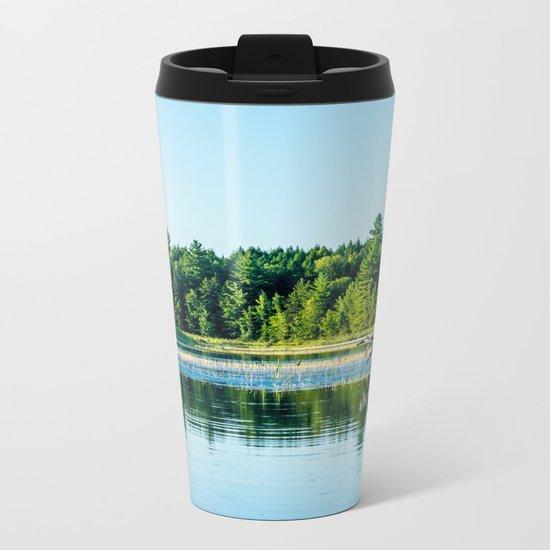 Driftwood Reflection Metal Travel Mug