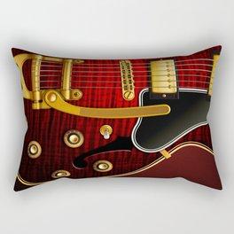 Electric Guitar ES 335 Flamed Maple Rectangular Pillow