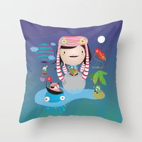 imagine Throw Pillows featuring Imagine  by Maria Jose Da Luz
