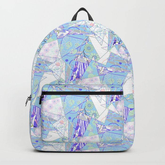 Abstract, floral, geometric pattern. Backpack