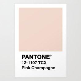 PANTONE ® Pink Champagne Art Print