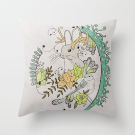 Journey to the Center of Nothing Throw Pillow