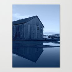 Warehouse Reflection in Blue Canvas Print