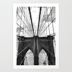Brooklyn Bridge Old School Art Print