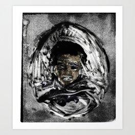 mono-print based off dead Art Print