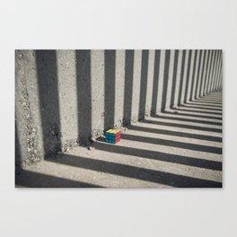 Rubik shading stripes Canvas Print