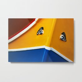 Traditional Maltese Boat Metal Print
