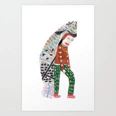 Fish Man Art Print