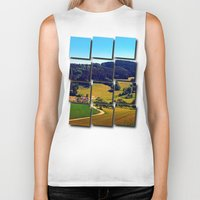 hiking Biker Tanks featuring Hiking through springtime scenery by Patrick Jobst