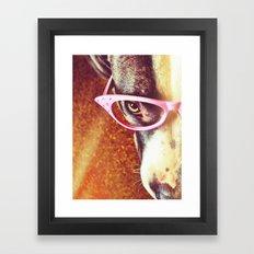 Vintage Pitbull Framed Art Print