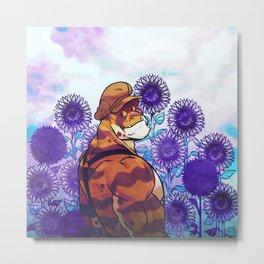 Sunflower Sanctuary Metal Print