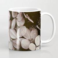 hydrangea Mugs featuring hydrangea by inourgardentoo
