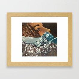 mountains between us Framed Art Print