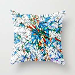 Glass stain mosaic 2 star - by Brian Vegas Throw Pillow