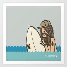 Bobbing Waveslider Art Print