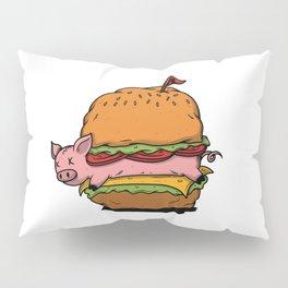 Hamburger cheeseburger fast food pork meat gift Pillow Sham