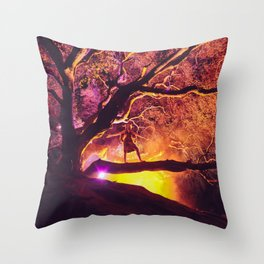 Midnight Spell Throw Pillow