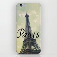 Paris Typography Eiffel Tower  iPhone & iPod Skin