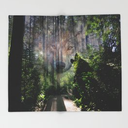 The Wild in Us Throw Blanket