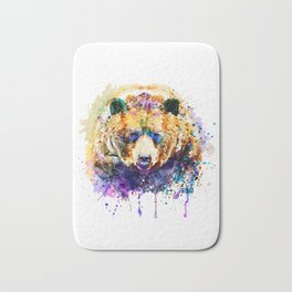 Colorful Grizzly Bear Bath Mat