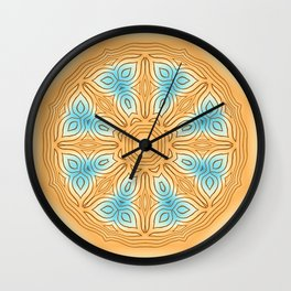 Sea Beach Summer Kaleidoscope Abstract Pattern Wall Clock