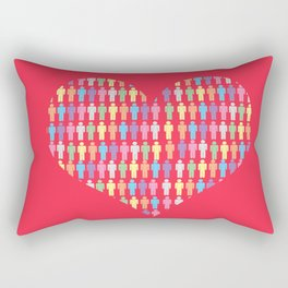 The Heart of the People Rectangular Pillow