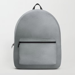 Elegant modern abstract faux silver gradient Backpack