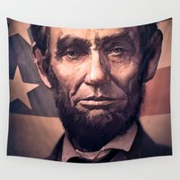 lincoln Wall Tapestries featuring Lincoln by Dominick Saponaro