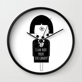 Fight male gaze Wall Clock