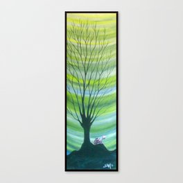 Happy Critter Tree no. 6 Canvas Print