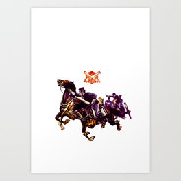 Old cavalry division Art Print